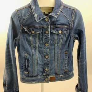 Pilcro and the Letterpress Blue Jean Jacket Size M